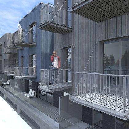 RESIDENTIAL HOUSE / Riga, Vecaku prospekts / Project proposal 2010