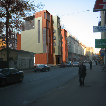 COMPETITION. RESIDENTIAL ADN OFFICE BUILDING / Riga, E.Birznieka Upisa street / 2005/11