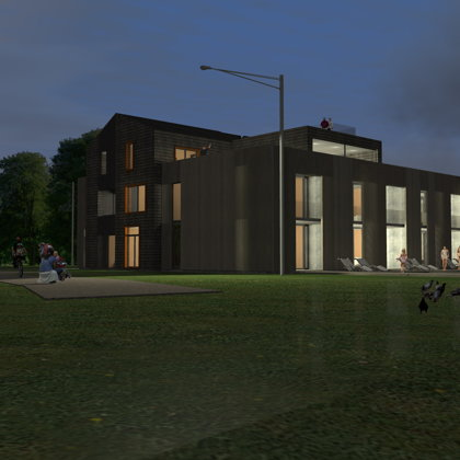 Mazstāvu dzīvojamās ēkas projekts, Straumes ielā 2, Jūrmalā / Skiču stadija / 2013.gads
