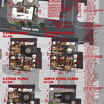 DAUDZDZĪVOKĻU DZĪVOJAMĀS ĒKAS APBŪVES PRIEKŠLIKUMS / Rīga, Vidus ielā 5 / 2006/02