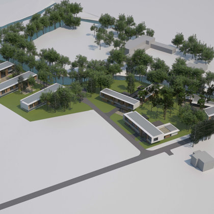 Exclusive building of private houses. Marupes region, Marupe / Project proposal 2014