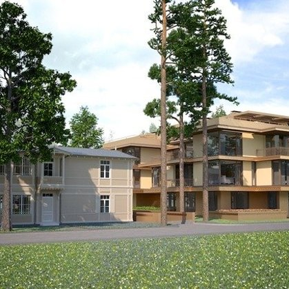 APARTMENT AND RECREATIONAL BUILDING. Jurmala, Dzintaru prospekts 23 / 2012/2013