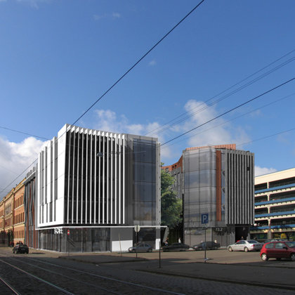 COMPETITION. RESIDENTIAL AND OFFICE BUILDING / Riga, Kr. Barona street 73 / 2008/03