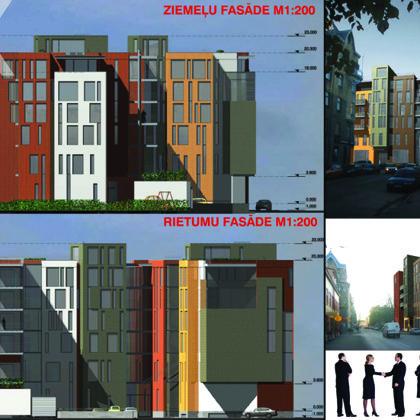 COMPETITION. RESIDENTIAL ADN OFFICE BUILDING / Riga, E.Birznieka Upisa street / 2005/11