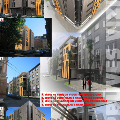 COMPETITION. RESIDENTIAL BUILDING / 1ST PLACE Riga, Vidus street 5 / 2006/02